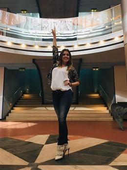 La cantante canaria Cristina Ramos en la presentación de su Rock Talent