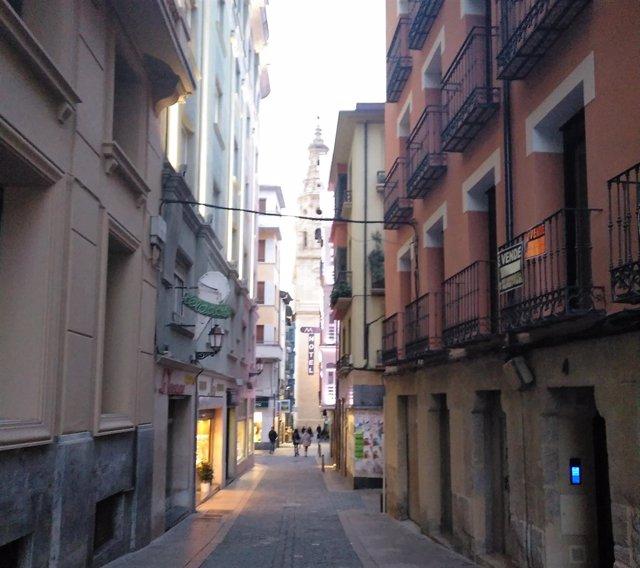 Cableado en el Casco Antiguo de Logroño