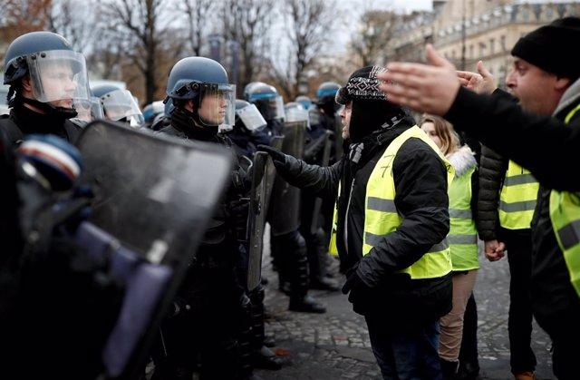 Manifestaciones chalecos amarillos parís noviembre 2018