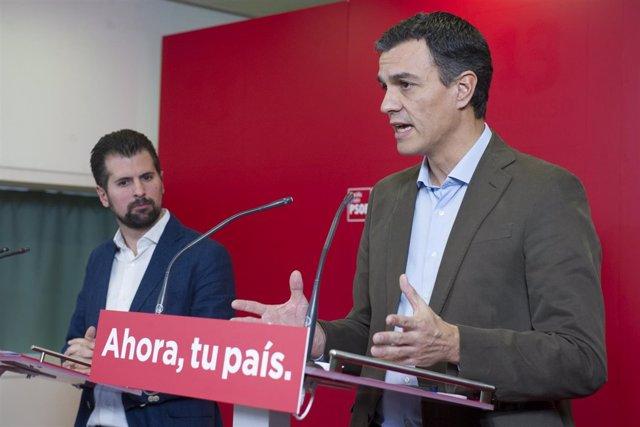 Pedro Sánchez y Luis Tudanca en Valladolid (Foto de Archivo)