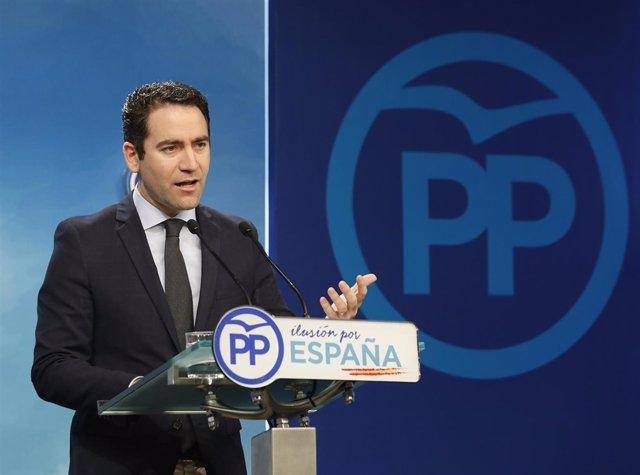 Rueda de prensa del PP tras la reunión del Comité de Dirección del partido