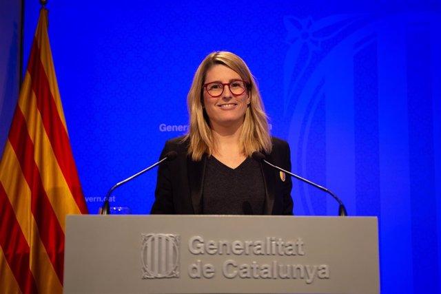 La portavoz del Govern, Elsa Artadi