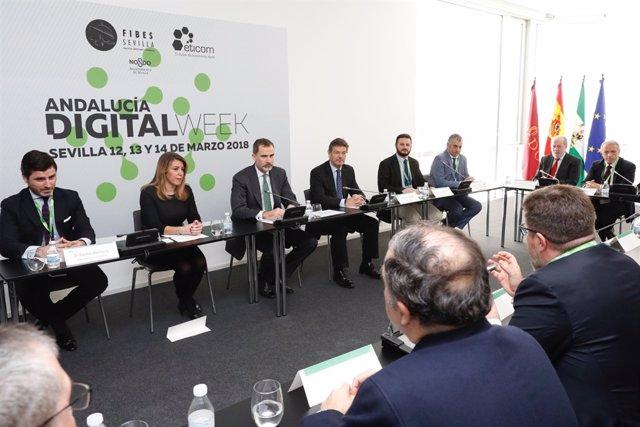 El Rey Felipe VI preside la Andalucía Digital Week 2018