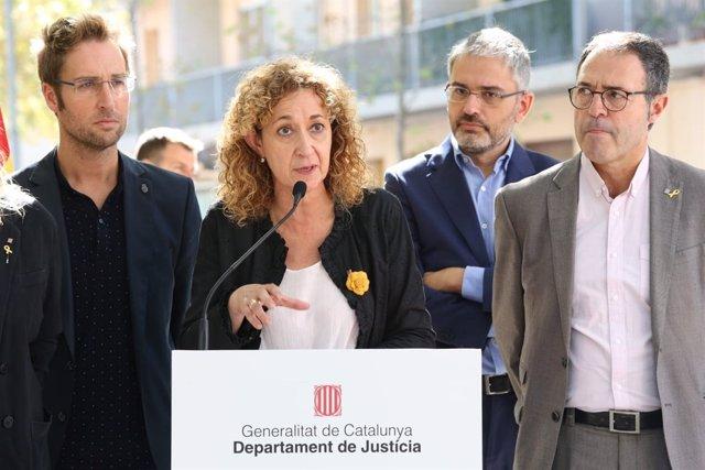 La consellera de Justicia Ester Capella y el director de Prisiones Amand Calderó