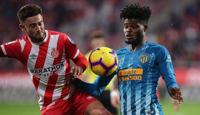 Thomas Partey en el Girona - Atlético Madrid