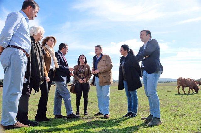 Visita del PP a Castellar (Cádiz)
