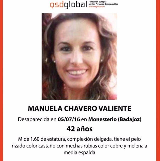 Cartel de búsqueda de Manuela Chavero