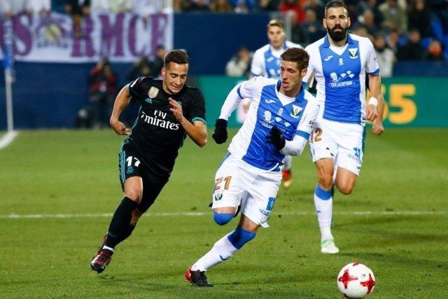 Lucas Vázquez y Rubén Pérez en un Leganés-Real Madrid