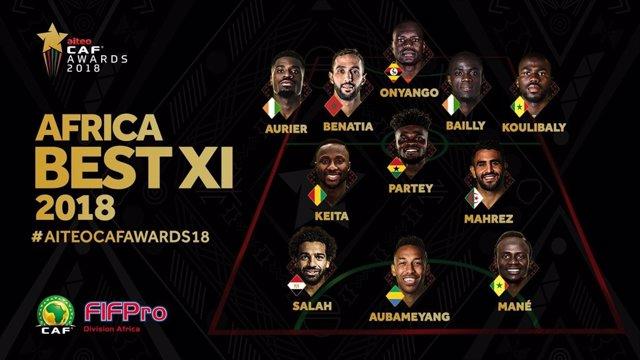 Once del año de futbolistas africanos para la CAF