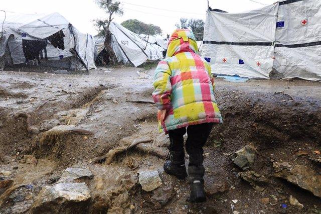 Campo de refugiados de Moria, Grecia