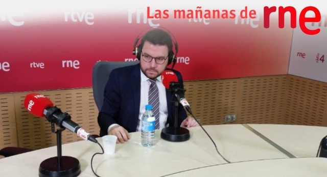 El vicepresident, Pere Aragons.