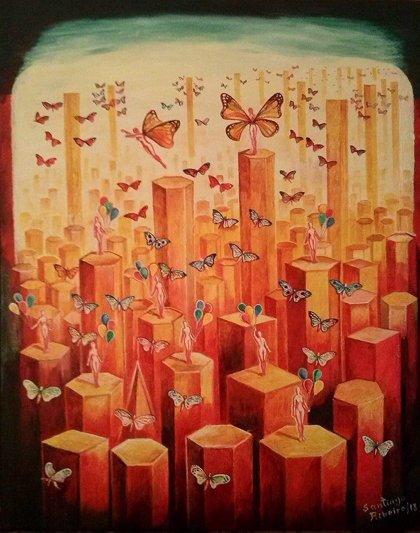 El artista europeo Santiago Ribeiro expone en Londres, Reino Unido y Surrealism Now en Portugal