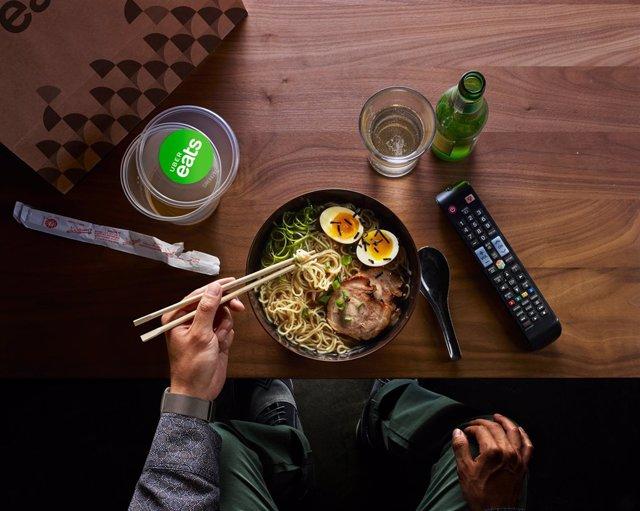 Comida a domicilio Ramen Uber Eats