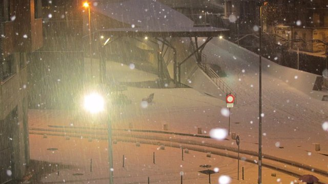 Imagen de Archivo. Barakaldo durante la nevada de 2018