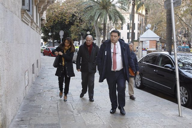 El empresario Gerardo Díaz Ferrán llega a la Audiencia Provincial de Baleares