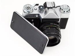 Cámara de fotos y teléfono móvil