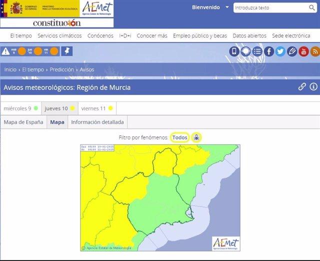 Frío aviso amarillo Altiplano y Noroeste
