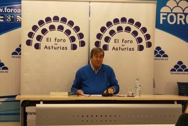 Francisco Álvarez Cascos en rueda de prensa.