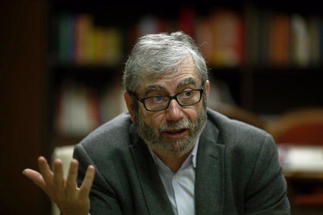 Antonio Muñoz Molina durante una entrevista con Europa Press