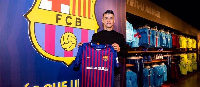 El nuevo jugador del Barça Lassa de fútbol sala Marcenio