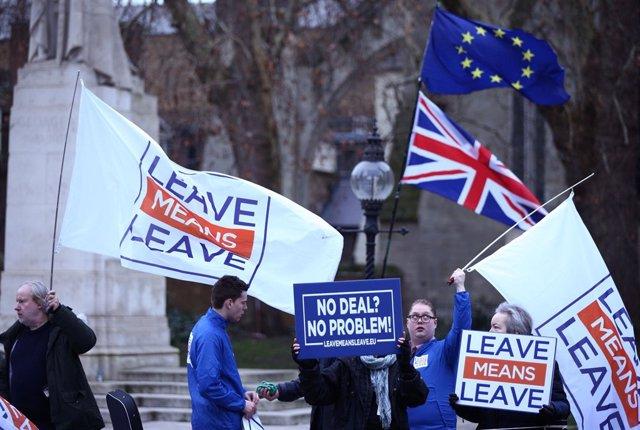Pro-Brexit demonstration in London