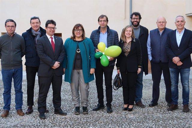La consellera Busquets con miembros de los Clústers de Baleares