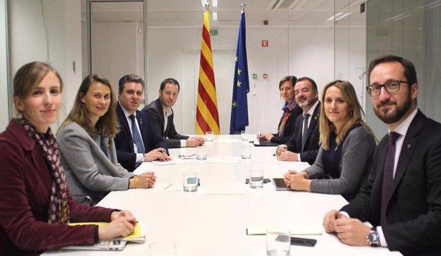Els delegats de la Generalitat a l'estranger amb el conseller Alfred Bosch