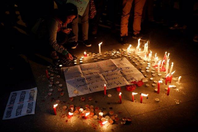 Vigilia en la Corte de Constitucionalidad de Guatemala por la CICIG