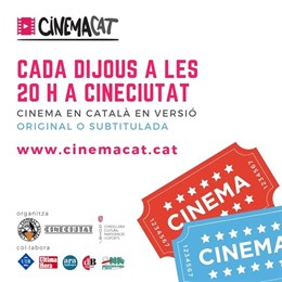 Cartel de Cinemacat el proyecto de películas subtituladas en catalán