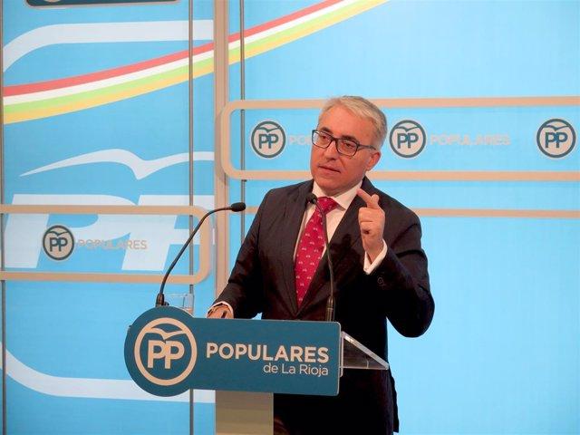 El Portavoz 'Popular' Jesús Ángel Garrido