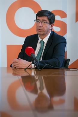 Entrevista de Europa Press a Juan Marín hace un par de semanas