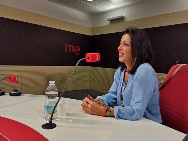 La presidenta del Parlamento, Marta Bosquet, en una entrevista en Radio 5 de RNE