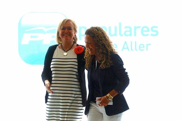 Mercedes Fernández y Teresa Mallada en una imagen de archivo