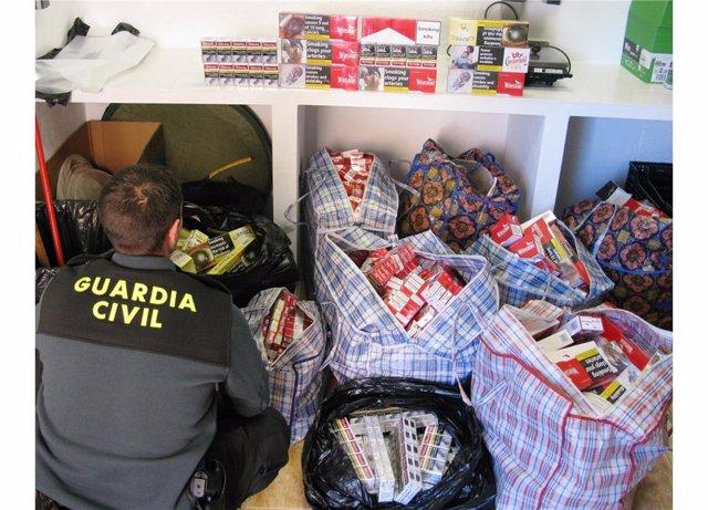 Operación contra el contrabando de tabaco
