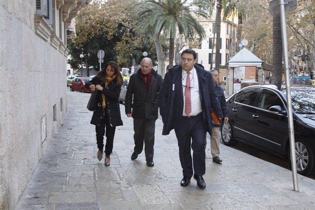 L'empresari Gerardo Díaz Ferrán arriba a l'Audincia Provincial de Balears