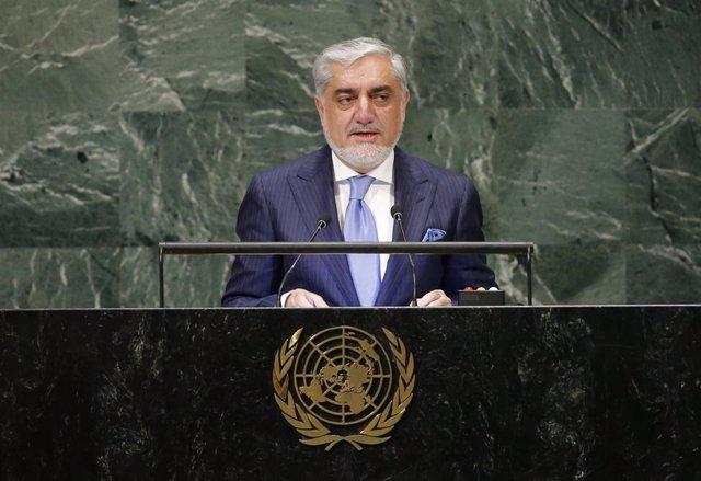 El primer ministro de Afganistán, Abdulá Abdulá, en Asamblea General de la ONU