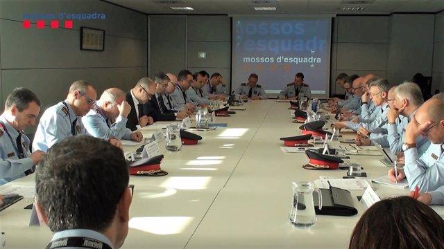 Primera reunión de 2019 del Gabinete de Coordinación Antiterrorista de Mossos