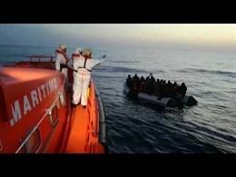 Una operación de rescate de inmigrantes en Mar de Alborán