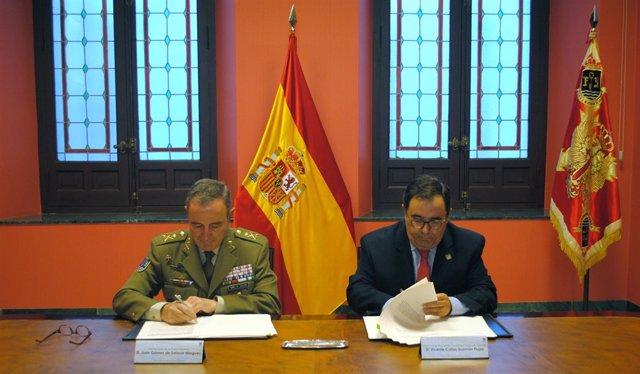 Firma de convenio entre la UPO y el Ministerio de Defensa