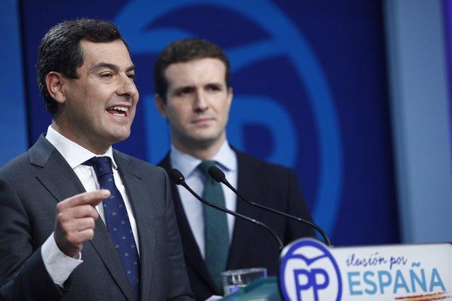 Juanma Moreno i Pablo Casado