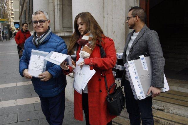 Els periodistes d'Europa Press Balears i El Diario de Mallorca