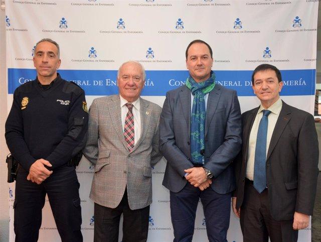 Reunión policia y el consejo general de enfermería