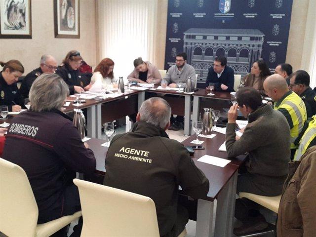 Reunión del dispositivo de seguridad para peregrinaciones a El Rocío.