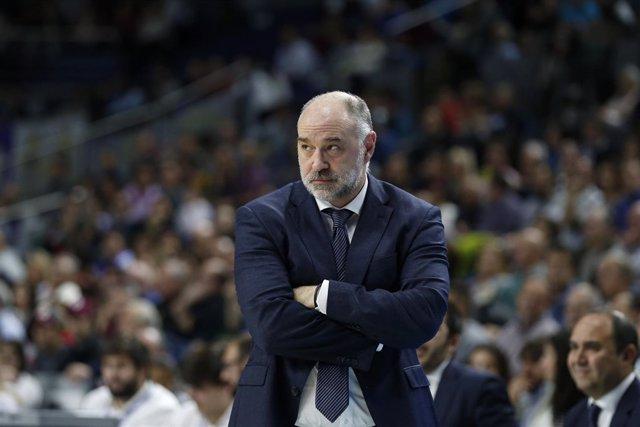 El entrenador del Real Madrid, Pablo Laso