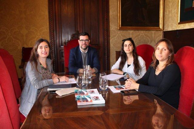 Reunión alcalde de Palma, Antoni Noguera, y Alianza Mar Blava