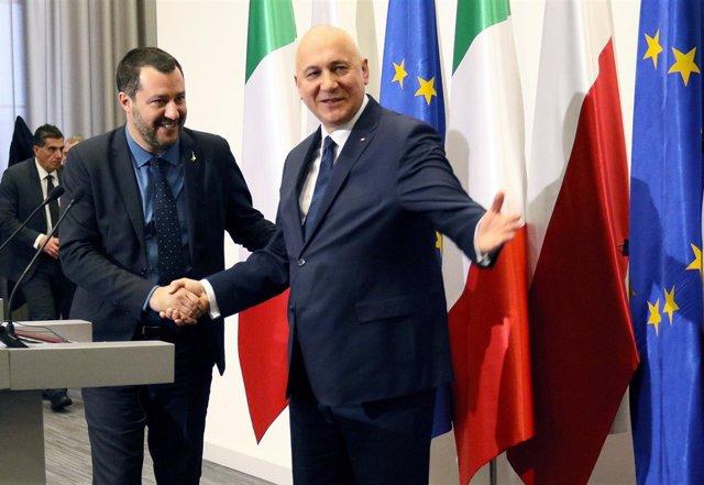 Matteo Salvini y Joachim Brudzinski