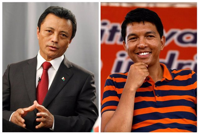 Marc Ravalomanana y Andry Rajoelina
