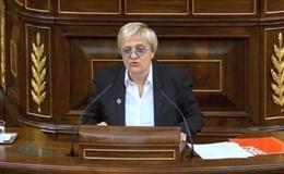 La diputada socialista Ángeles Álvarez en el Congreso