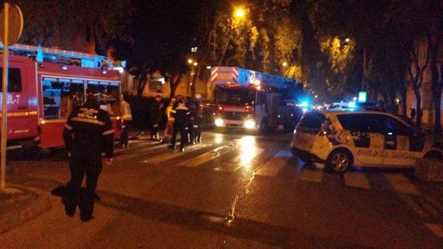 La Policía Local interviene en el incendio de una vivienda en Sevilla Este