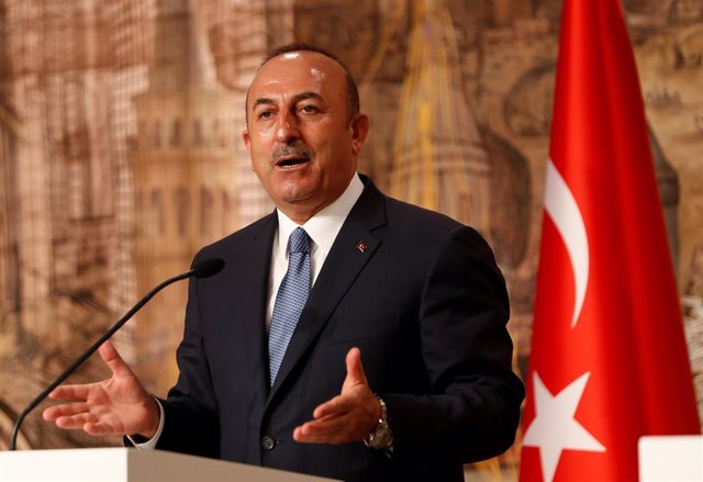 Mevlut Cavusoglu, ministro de Exteriores de Turquía, en un acto en Estambul